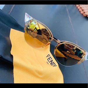 Fendi Iridia Cat Eye Sunglasses